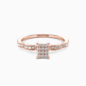 14K Rose Gold My Life Partner Engagement Side Stone Rings