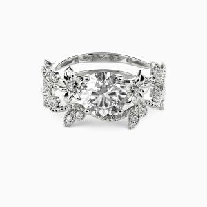 10K White Gold My Sunshine Engagement Bridal Sets