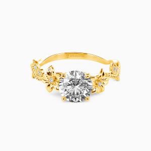 10K Gold My Sunshine Engagement Side Stone Rings