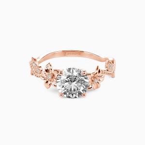 10K Rose Gold My Sunshine Engagement Side Stone Rings