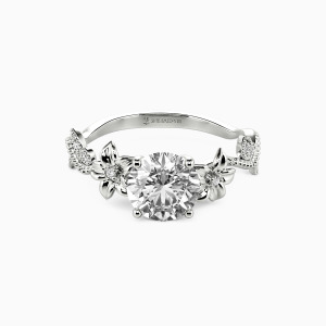 10K White Gold My Sunshine Engagement Side Stone Rings