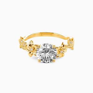 14K Gold My Sunshine Engagement Side Stone Rings
