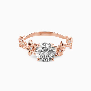 14K Rose Gold My Sunshine Engagement Side Stone Rings
