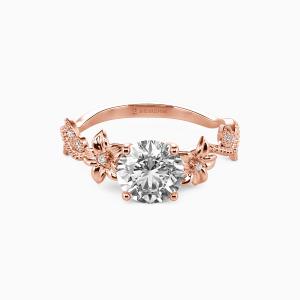 18K Rose Gold My Sunshine Engagement Side Stone Rings
