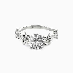 18K White Gold My Sunshine Engagement Side Stone Rings