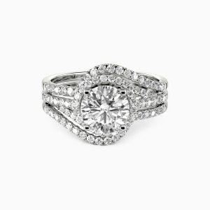 10K White Gold Incomparable Happiness Engagement Bridal Sets