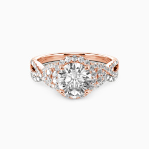 10K Rose Gold A Match Made in Heaven Engagement Bridal Sets