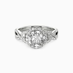 10K White Gold A Match Made in Heaven Engagement Bridal Sets