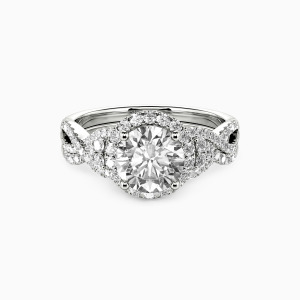 14K White Gold A Match Made in Heaven Engagement Bridal Sets