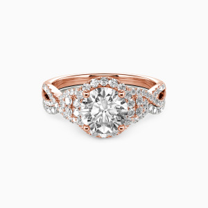 18K Rose Gold A Match Made in Heaven Engagement Bridal Sets