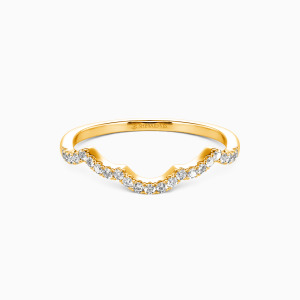 14K Gold A Match Made in Heaven Wedding Classic Bands
