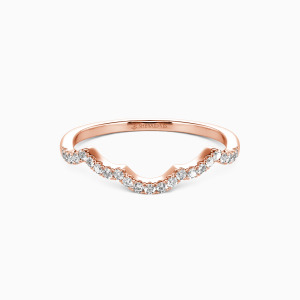 14K Rose Gold A Match Made in Heaven Wedding Classic Bands