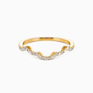 18K Gold A Match Made in Heaven Wedding Classic Bands