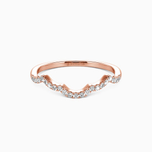 18K Rose Gold A Match Made in Heaven Wedding Classic Bands