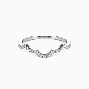 18K White Gold A Match Made in Heaven Wedding Classic Bands
