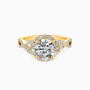 10K Gold A Match Made in Heaven Engagement Halo Rings