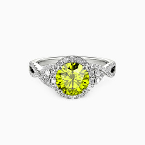10K White Gold A Match Made in Heaven Engagement Halo Rings