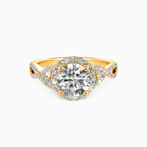 14K Gold A Match Made in Heaven Engagement Halo Rings