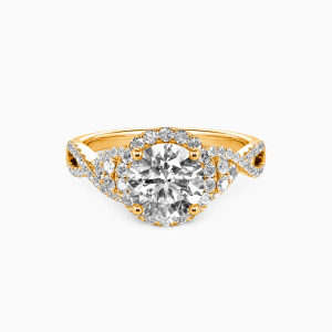 18K Gold A Match Made in Heaven Engagement Halo Rings