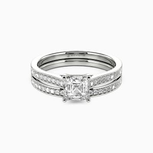 10K White Gold Live Your Dreams Engagement Bridal Sets