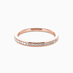 14K Rose Gold Live Your Dreams Wedding Classic Bands