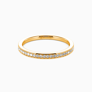 18K Gold Live Your Dreams Wedding Classic Bands