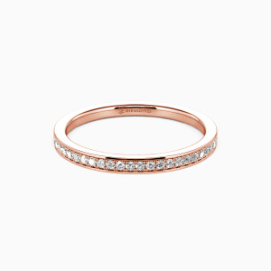 18K Rose Gold Live Your Dreams Wedding Classic Bands