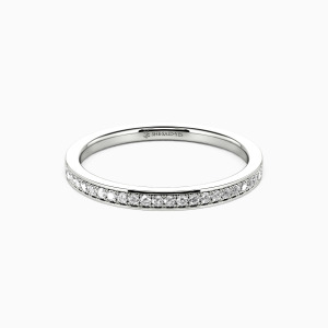 18K White Gold Live Your Dreams Wedding Classic Bands