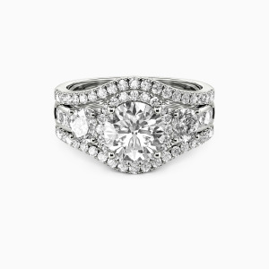 10K White Gold Only You Engagement Bridal Sets