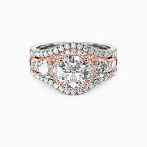 14K Rose Gold Only You Engagement Bridal Sets