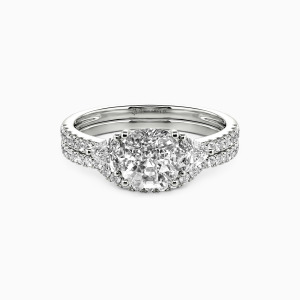 10K White Gold The Light of My Life Engagement Bridal Sets