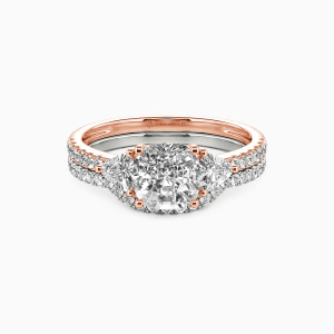 14K Rose Gold The Light of My Life Engagement Bridal Sets