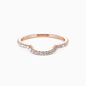 14K Rose Gold The Light of My Life Wedding Classic Bands