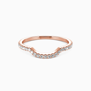 18K Rose Gold The Light of My Life Wedding Classic Bands