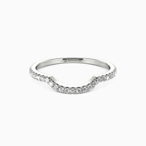 18K White Gold The Light of My Life Wedding Classic Bands