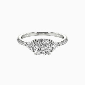 10K White Gold The Light of My Life Engagement Three Stone Rings
