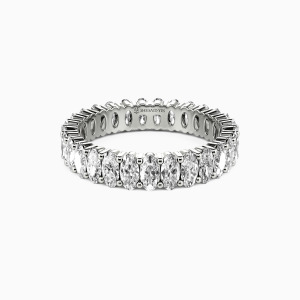14K White Gold Ever Since I Met You Wedding Eternity Bands