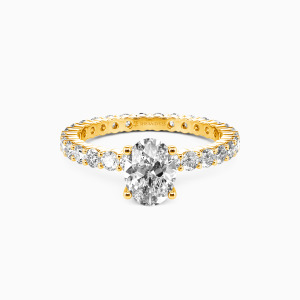 10K Gold Ever Since I Met You Engagement Side Stone Rings