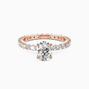 10K Rose Gold Ever Since I Met You Engagement Side Stone Rings