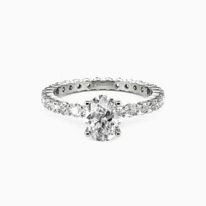 10K White Gold Ever Since I Met You Engagement Side Stone Rings