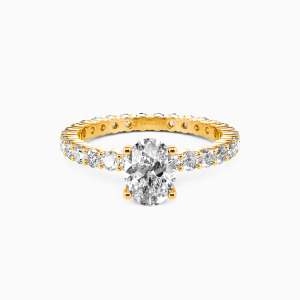 14K Gold Ever Since I Met You Engagement Side Stone Rings
