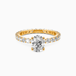 18K Gold Ever Since I Met You Engagement Side Stone Rings