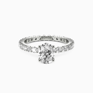 18K White Gold Ever Since I Met You Engagement Side Stone Rings