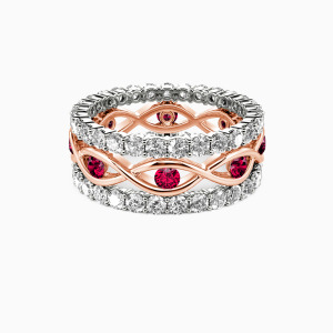 10K Rose Gold JE T'AIME Engagement Bridal Sets