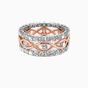 14K Rose Gold JE T'AIME Engagement Bridal Sets