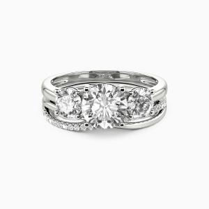 10K White Gold Sweet On You Engagement Bridal Sets