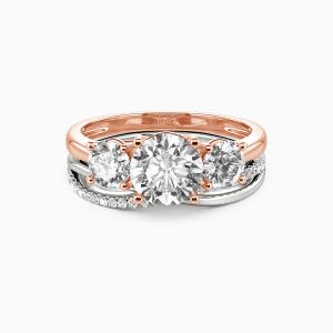 14K Rose Gold Sweet On You Engagement Bridal Sets