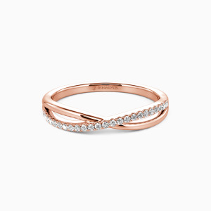 18K Rose Gold Sweet On You Wedding Classic Bands