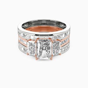 14K Rose Gold Happy Beginning Engagement Bridal Sets