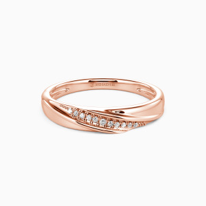 14K Rose Gold My Forever Love Wedding Classic Bands